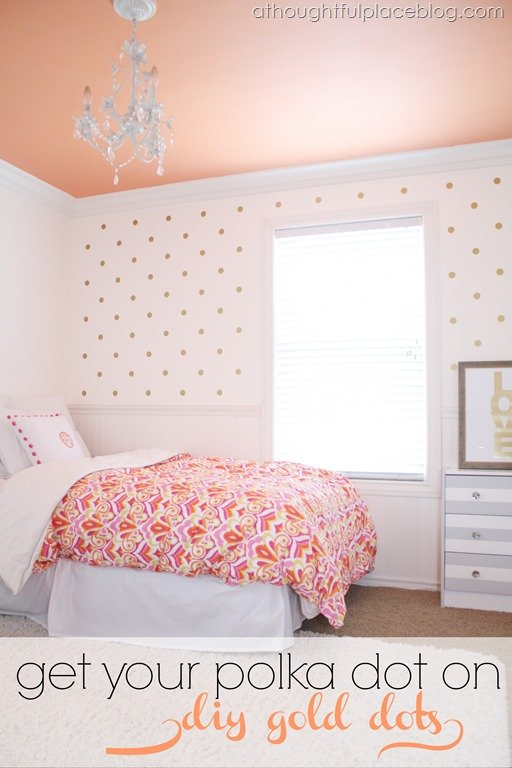 Diy Gold Polka Dots Using Decals A Thoughtful Place
