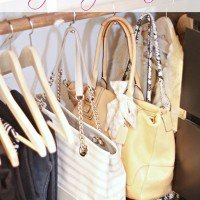 Closet Organization | How to Hang Handbags
