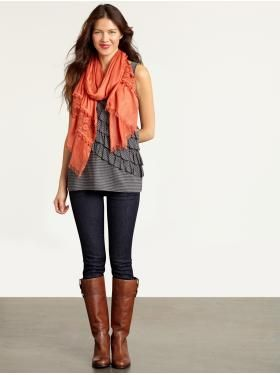 So cute for early fall. Great way to transition summer to fall clothing.