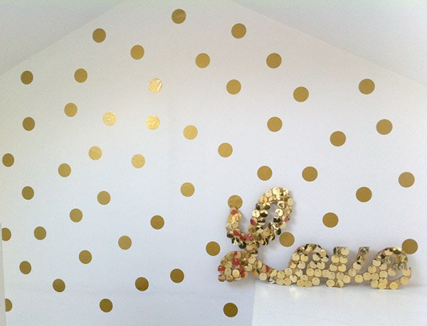 Ideal Giveaway Time Gold Polka Dots Anyone