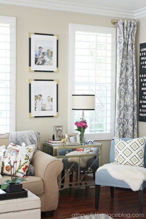 Living room update semi custom drapes a thoughtful place for Living room update ideas