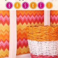 How to Make a Painted Basket
