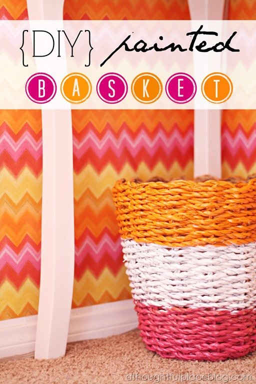 How To Make A Painted Basket A Thoughtful Place