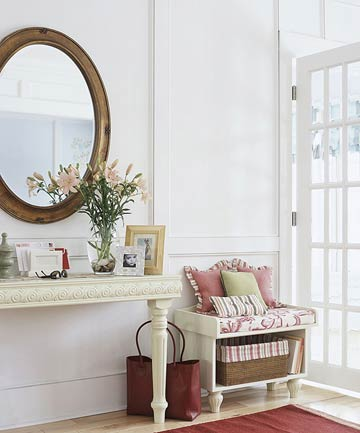 To Hang Art Above A Console Table, How High To Hang Mirror Above Entry Table