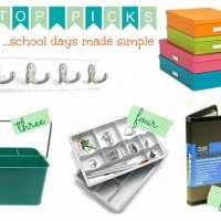 Top 5 Organizing Products {School Days Made Simple}