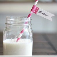{DIY} Straw Flags