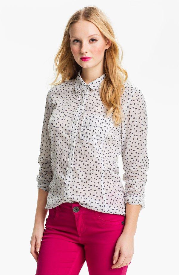 Caslon® Long Sleeve Shirt (Regular & Petite)