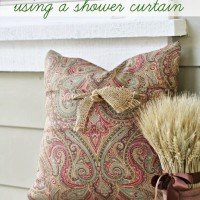 DIY Envelope Pillows {Using a Shower Curtain}