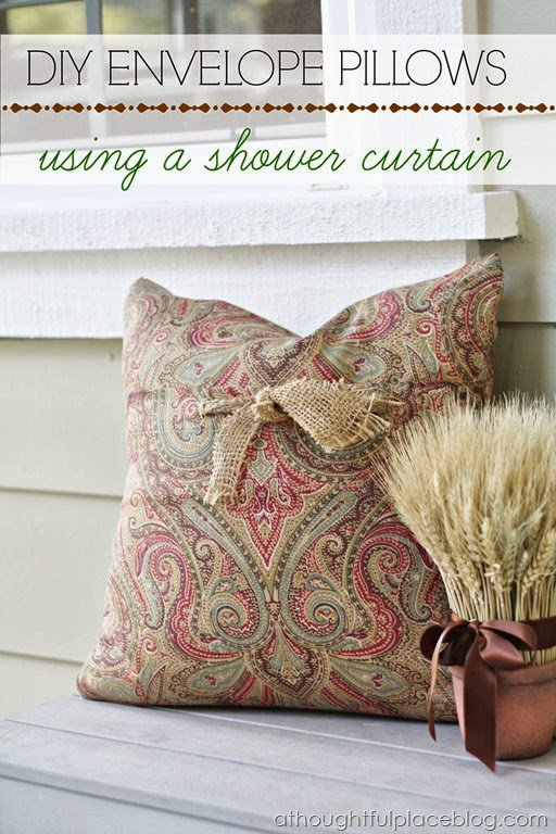 Diy Envelope Pillows Using A Shower Curtain A