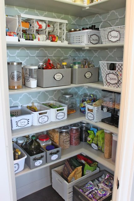 Organized pantry reader space a thoughtful place - Rangement cellier ikea ...