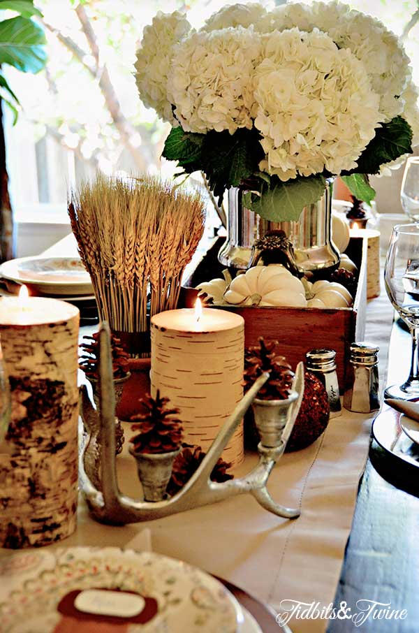 Friday eye candy thanksgiving inspiration a thoughtful place - Interesting tables capes for christmas providing cozy gathering space ...