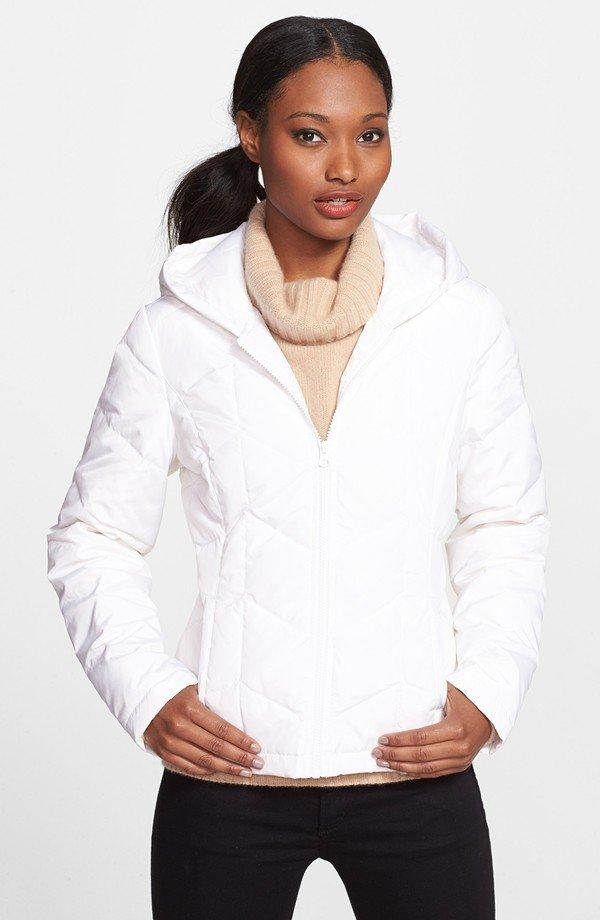 Halogen® Hooded Down Jacket