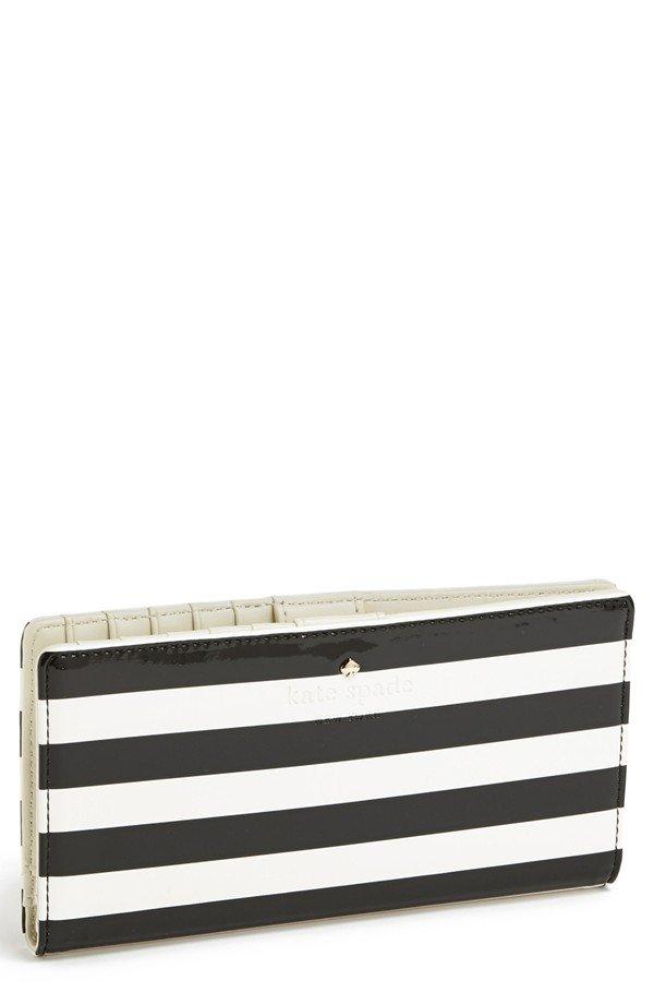 kate spade new york 'harrison street stripe - stacy' wallet