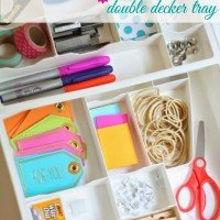 Organized Junk Drawer: To a New Level