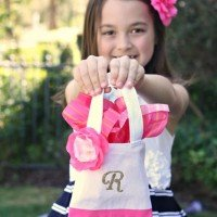 DIY Monogrammed Tote: Perfect Party Favor