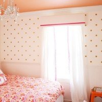 Big Girl Room: Pom-Pom Drapes and Pelmet