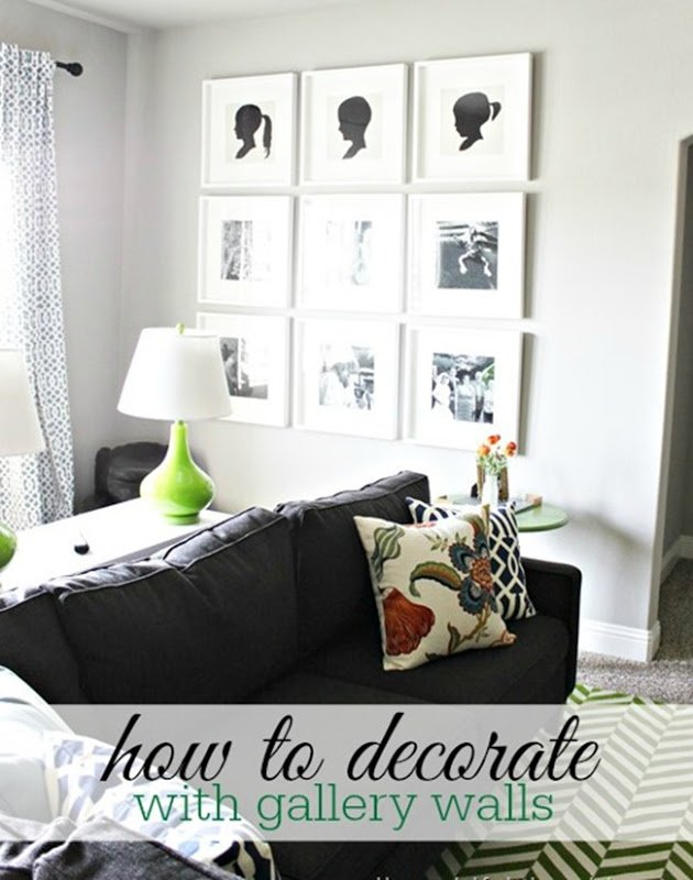 how to decorate 5 gallery wall styles a thoughtful place. Black Bedroom Furniture Sets. Home Design Ideas