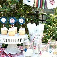 Nautical Garden Party: Cocktail Napkin Banner