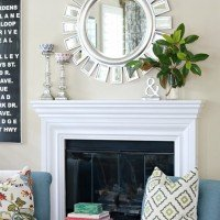 Simple Mantel: Nature + A Touch of Glam