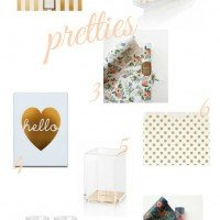 Gold + Blush + Lucite