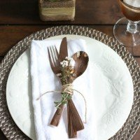 Fall Table: Rose Gold Flatware