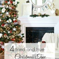 Four Christmas Tree Decorating Tips
