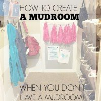 Mini Mudroom Update