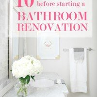 10 Questions to Ask Before Starting a Bathroom Renovation