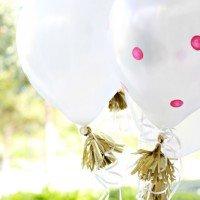 Polka Dot Balloons & DIY Gold Tassels