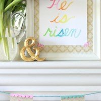 Bunny Banner & Simple Easter Mantel