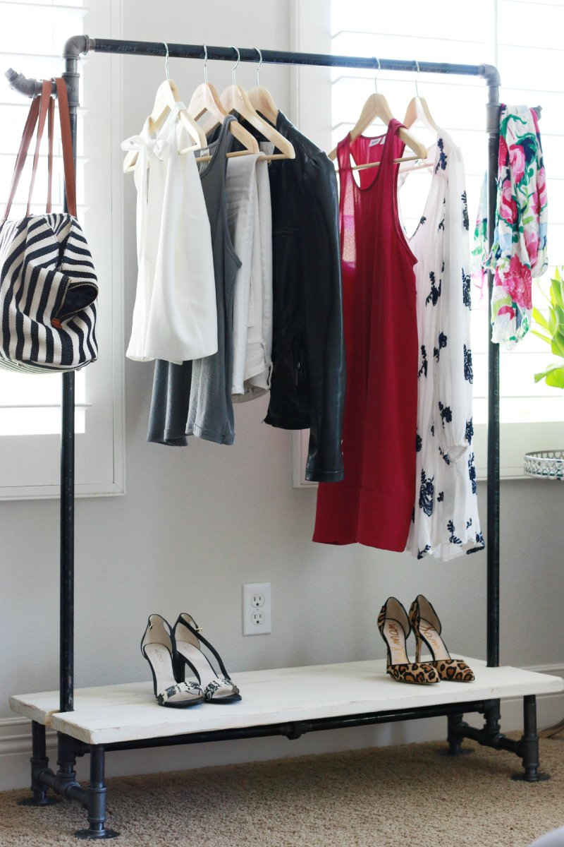 DIY Garment Rack - A Thoughtful Place