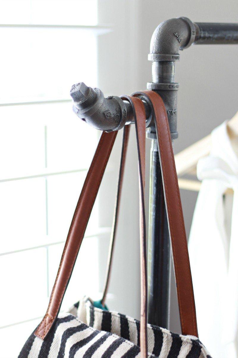 garmet rack and bag