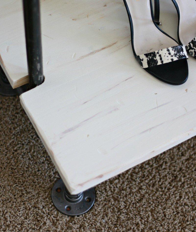 garmet rack and heels