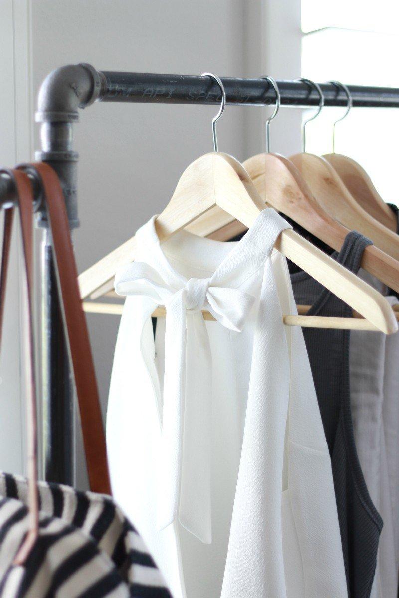 garmet rack bow blouse