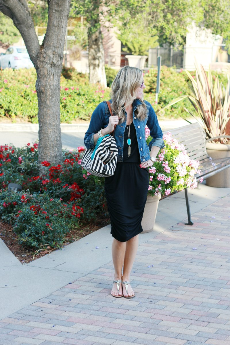 Black dress jean jacket - Lbd Jean Jacket