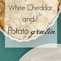 White Cheddar and Potato Gratin