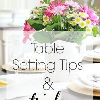Table Setting Tips and Tricks