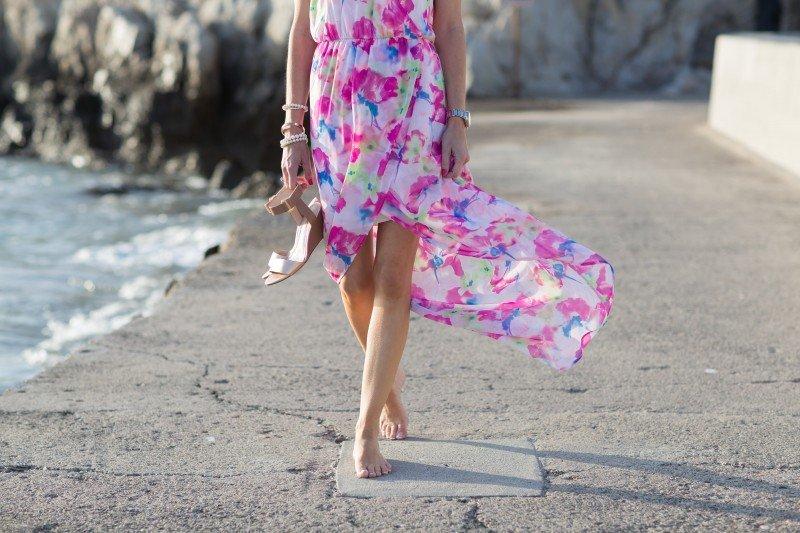 floral bright maxi dress