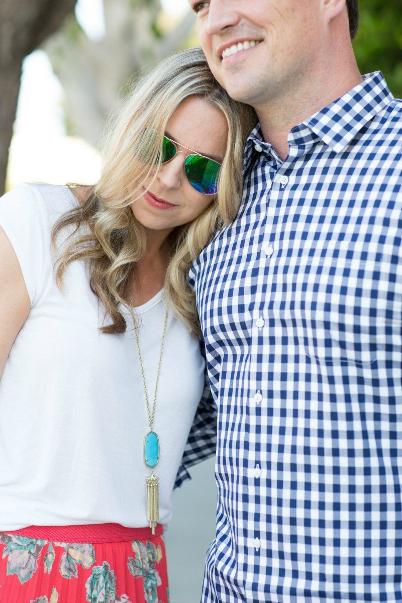 floral and gingham date night