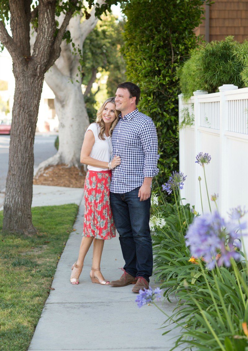 floral skirt date night