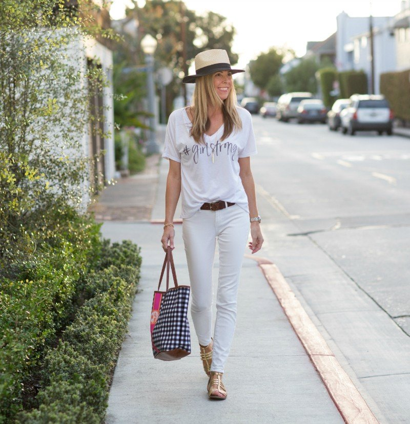 white with tote