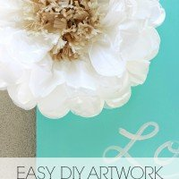 Easy DIY Artwork | Tissue Flowers