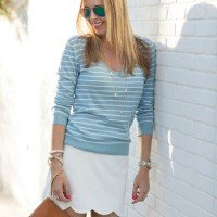 sweater and skirt style