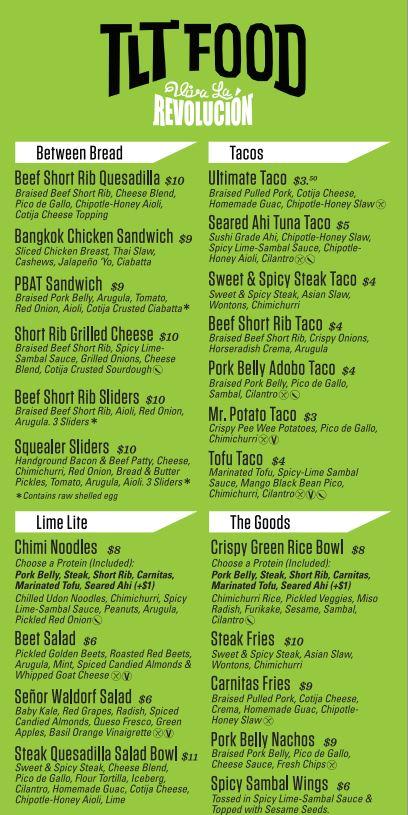 tlt menu