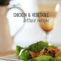Chicken & Vegetable Lettuce Wraps