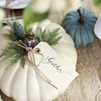 Fall Table & Easy Pumpkin Craft
