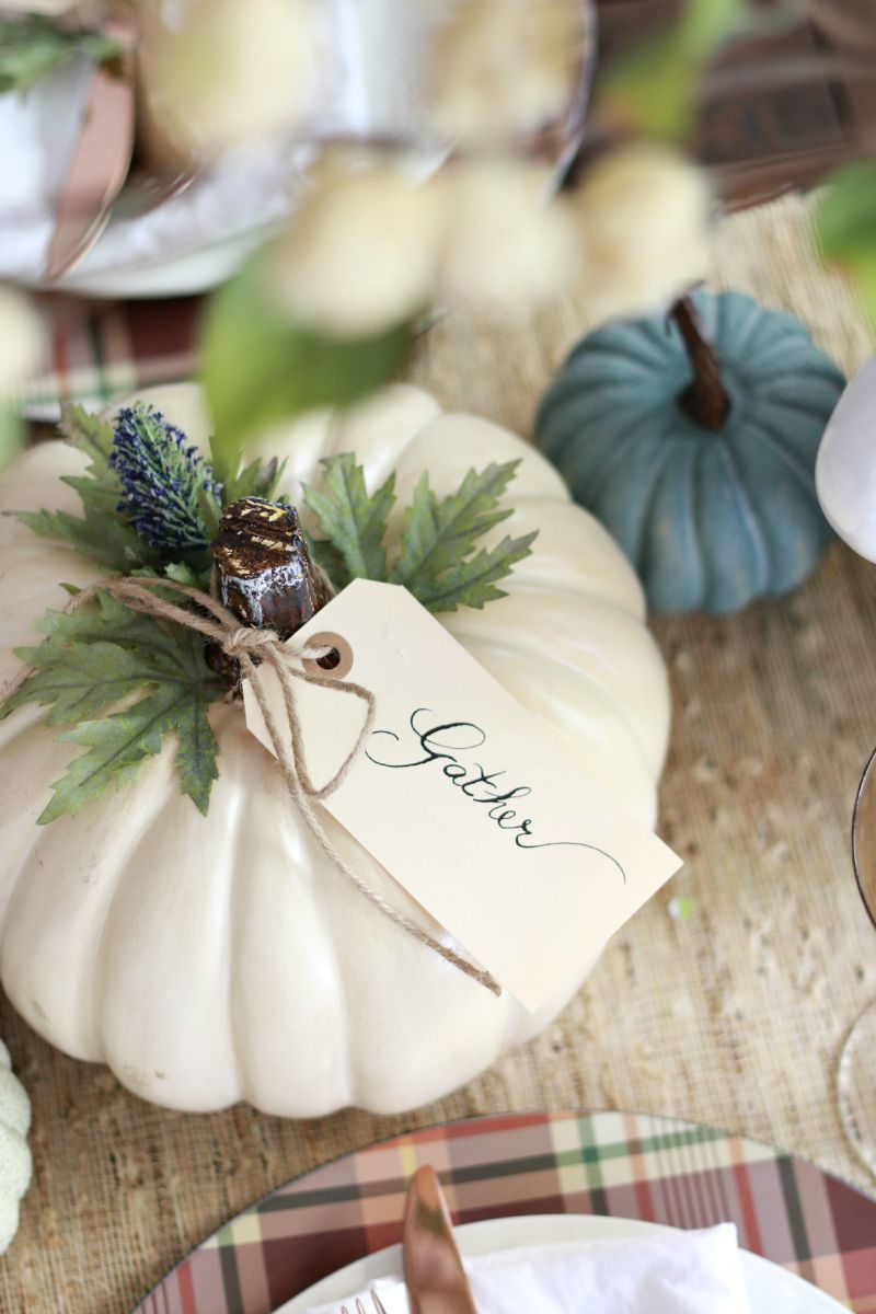 Fall Table Easy Pumpkin Craft