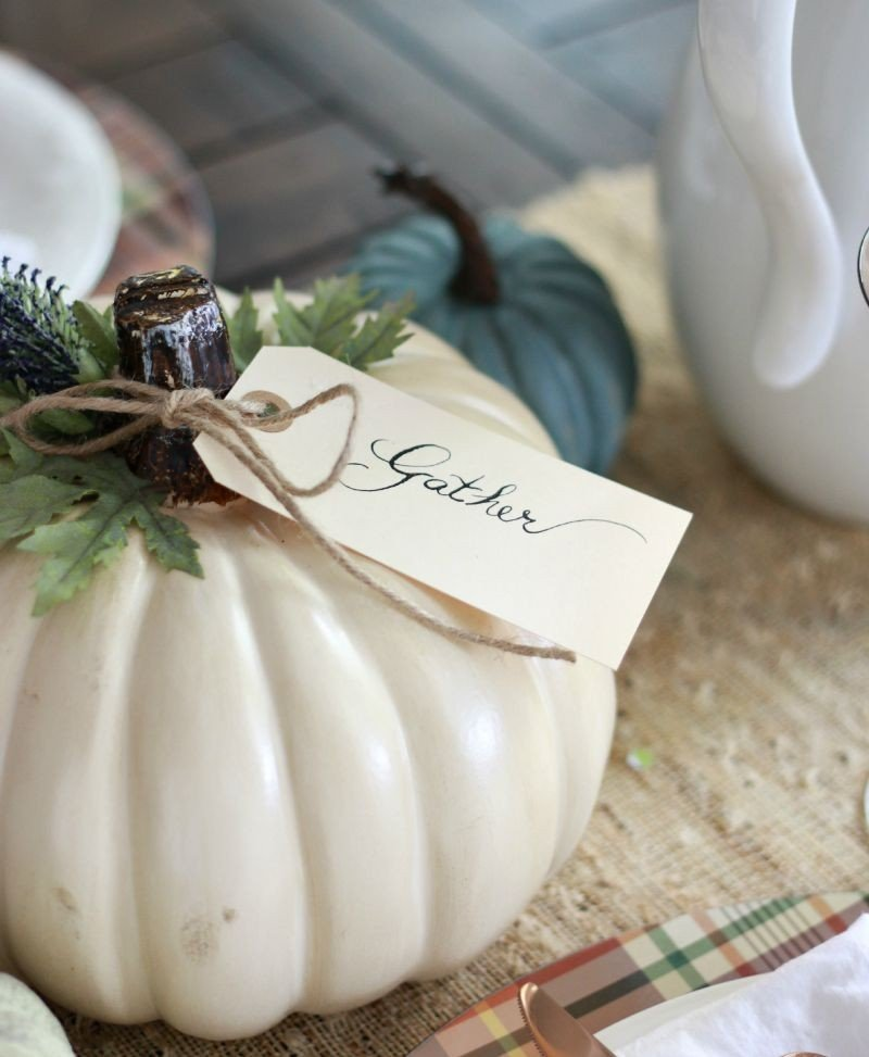 Easy Pumpkin Craft from A Thoughtful Place  |  25 Creative DIY Pumpkins at www.andersonandgrant.com