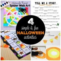 4 Easy Halloween Activities