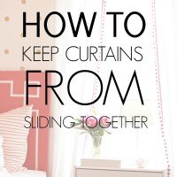 How to Keep Curtains From Sliding